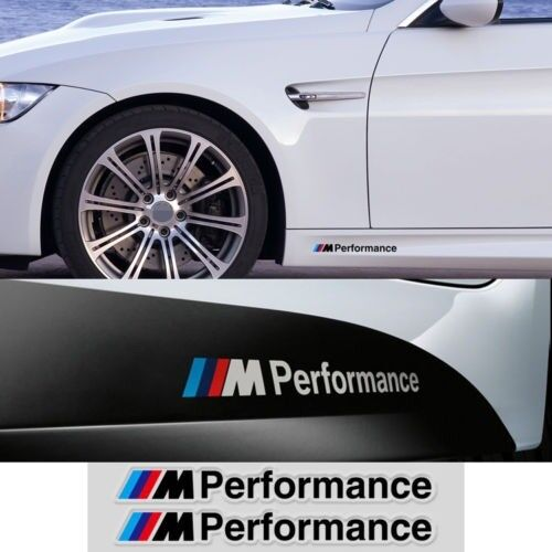 2 Ps Black M Performance Sticker Decals Stripes Decal For BMW 1 3 5 M3 M5 X5 S22