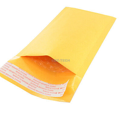 Lot Of 100 New 000 4x8 Inch 4.25x 7 Kraft Bubble Mailers Padded Envelopes Bags