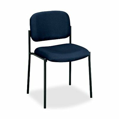 Basyx By Hon Vl606 Armless Guest Chair - Navy Blue Seat - Back - Black Frame -
