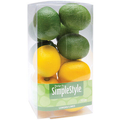 "Design It Simple Decorative Fruit 13/Pkg  Mini Lemons & Limes, 1.34""x1.5"" RS9802"