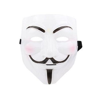 Guy Fawkes Mask Halloween Fasching in weiß (V For Vendetta Guy Fawkes Maske)