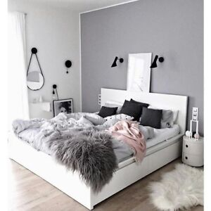NEAR NEW IKEA MALM BEDFRAME WITH DRAWERS- WHITE -