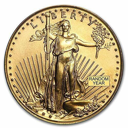 $5 AMERICAN EAGLE GOLD COIN 1/10 OZ FINE FIVE DOLLAR BRILLIANT UNC (RANDOM YEAR)