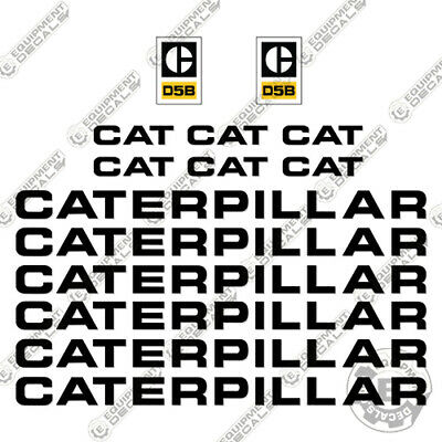 Used, Caterpillar D5B Dozer Decal Kit Equipment Decals 1970's for sale  Shipping to Canada