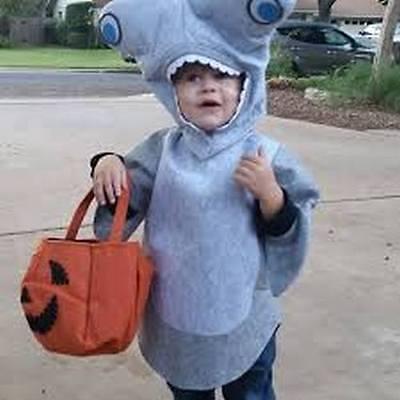 Hammerhead Shark Costume (POTTERY BARN KIDS HAMMERHEAD SHARK HALLOWEEN COSTUME 4-6 4/5/6)