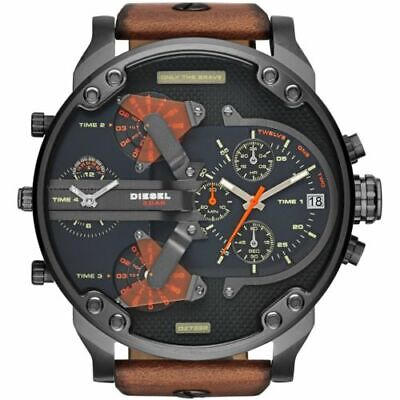 NEW DZ7332 Mr Daddy 2.0 DualTime Chronograph 57mm Black Dial Men's Watch