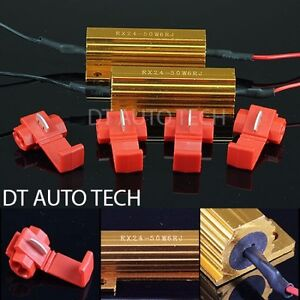 2X-6ohm-50W-LED-Load-Resistors-Turn-Signal-Blinkers-Fog-Lights-Fix-Hyper-Flash