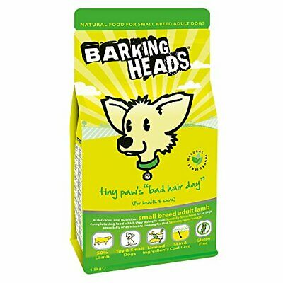 Barking Heads Dog Food Tiny Paws Bad Hair Day Lamb and Rice, 1.5kg