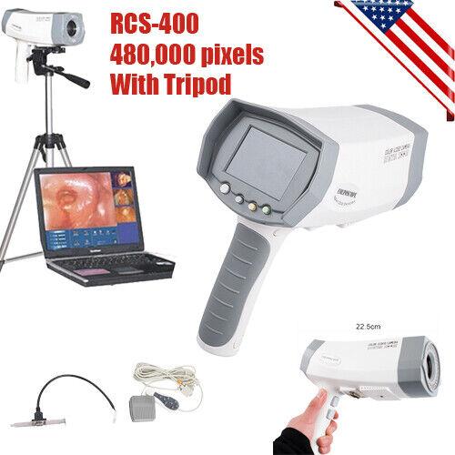 Digital Video Electronic Colposcope 480000 Pixels Camera Color Zoom Lens +Tripod