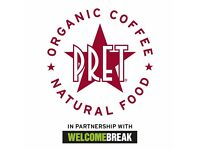 Nights Team Members - Pret A Manger - South Mimms Services - Starting Rate £8.50 per hour