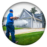 MOBILE PRESSURE WASHING OF HOUSES/SIDING