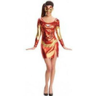 Iron man Adult Fancy Dress Super Hero Costume (Iron Man Pepper Potts Kostüm)
