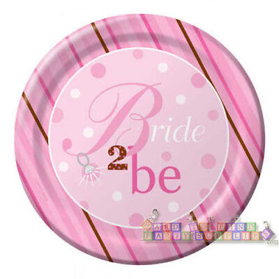Bridal Shower Plates (BRIDAL SHOWER Bride 2 Be Dots EXTRA LARGE PAPER PLATES (8) ~ Party)