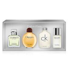 Calvin Klein 4pc Mini Gift Set Eternity Obsession CK One Escape Cologne for Men