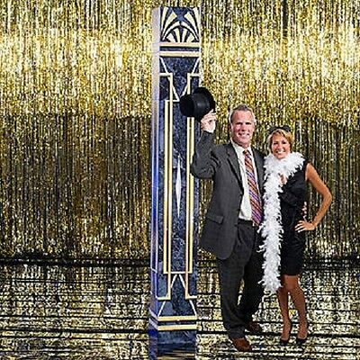 ART DECO TWENTIES COLUMN * 1920's theme party decorations * 3D column * scenery - 20s Themed Party