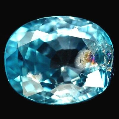 TOP ZIRCON : 3,35 Ct Natürlicher Blau Zirkon aus Kambodscha