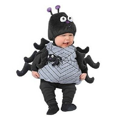 Girls or Boys Infant Spider Costume Halloween 0-9 or 12-18 Months 2 Piece Set
