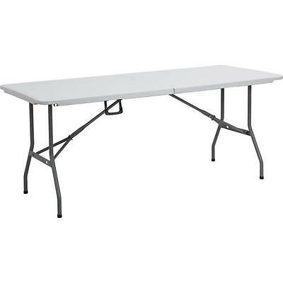 6ft Foldable Heavy Duty Fold up Fold in Half 1.8m Portable Picnic BBQ Table