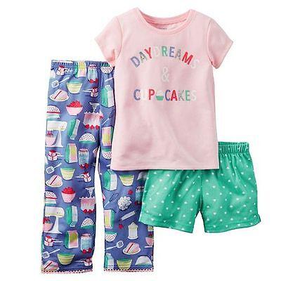 """Girls sz 2T Carter's """"Daydreams & Cupcakes"""" Pajama Set NEW"""