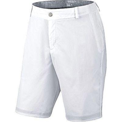 Nike sz 36 Men's MODERN TECH WOVEN GOLF Shorts NEW $ 90 725706- 100 White