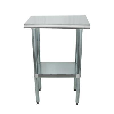 Stainless Steel Food Prep Work Table With Adjustable Undershelf 18x24