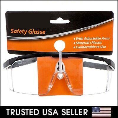 1-10 Pcs Safety Goggle Glasses Eye Eyewear Adjust Clean Lens Protective Work Lab