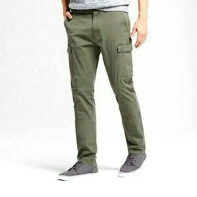 New Mens Goodfellow Green Slim Fit Cargo Pants NWOT D153 Cargo Pants Green