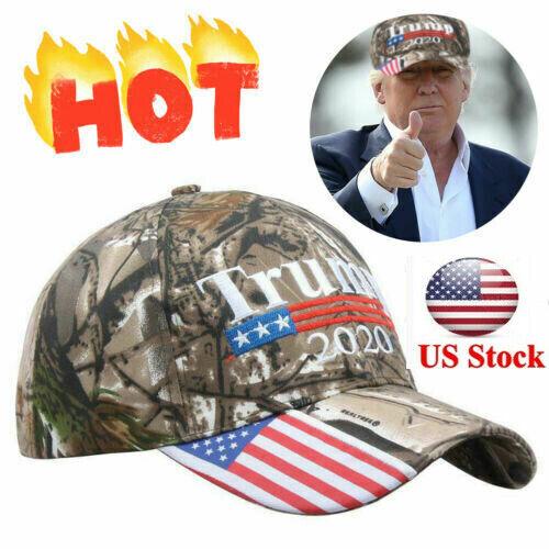 Trump 2020 MAGA Camo Embroidered Hat Keep Make America Great Again Cap US A+++