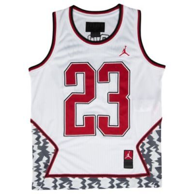 4d6024560 NWT AUTHENTIC NIKE JORDAN FASHION JERSEY SEWN STITCHED BOYS GRADE SCHOOL  MEDIUM