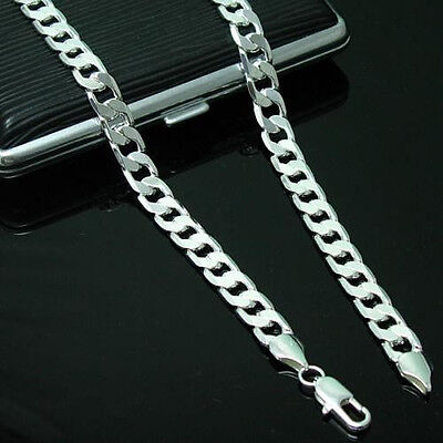 Fashion 4MM 925 Sterling Silver Chain Men Necklace 16-30 inch