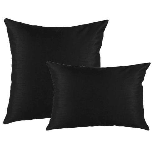 Decorative Pillow Black : Black Decorative Pillow eBay