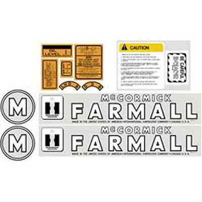 New M International Harvester Farmall Tractor Complete Decal Kit High Quality