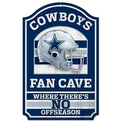DALLAS COWBOYS FAN CAVE WHERE THERE'S NO OFFSEASON WOOD SIGN 11