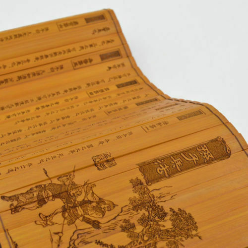 Chinese Classic Bamboo Slips Book Scroll of Sun Tzu