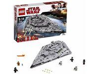 LEGO Star Wars The Last Jedi 75190 First Order Star Destroyer Toy NEW Full Set