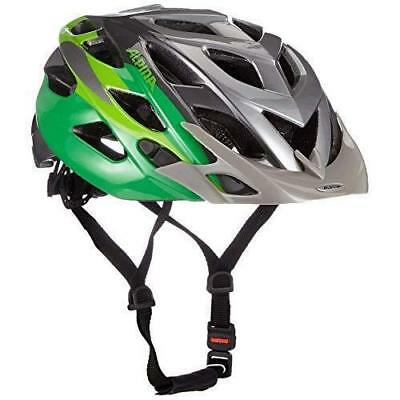 Alpina Adult Bike helmet D-Alto with best Ventilation titanium-green Size (Best Cheap Road Bike Helmet)