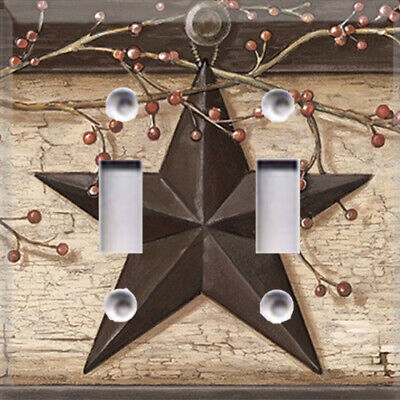 Rustic Barn Star Primitive Themed Light Switch Plate Cover ~ Choose Your Cover ~ ()