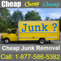 Cheapest rates around. Junk Removal made easy.