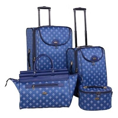 Fleur De Lis Luggage (American Flyer Fleur De Lis 4 Piece luxury Luggage Sets -)