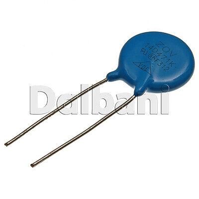 5pcs @$1.59 14D471K Metal Oxide Varistor Dependent Resistor 470V 300VAC 385VDC