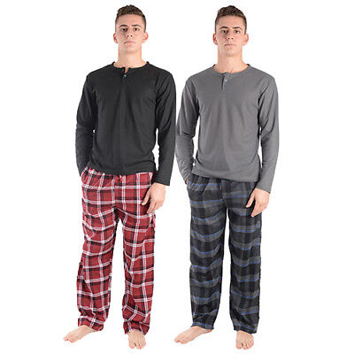 Plaid Flannel Pajama Top - NEW 2 Pack Men's Large Rugged Frontier Plaid Flannel Pajama Top and Bottom Sets