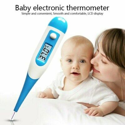 Digital LCD Thermometer Baby Adult Oral Electronic Termometro Fever Degree SS