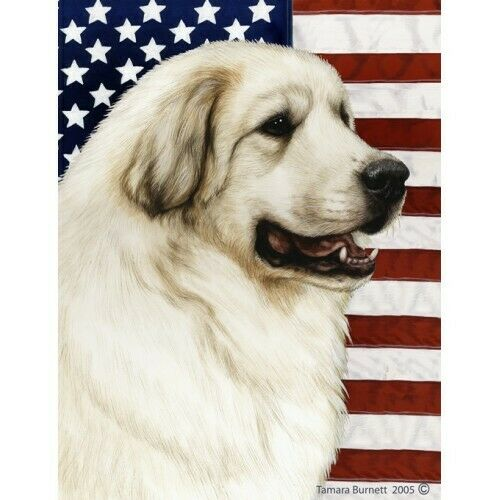 Patriotic (D2) House Flag - Great Pyrenees 32146