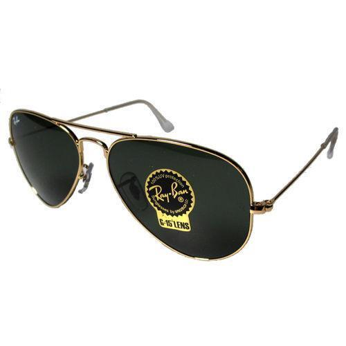 ray ban aviator gold black ebay