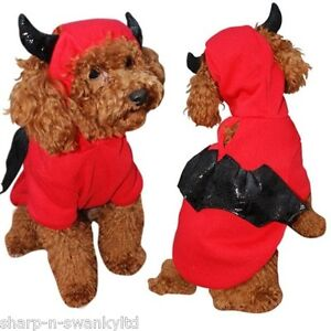 Pet-Dog-Cat-Red-Devil-Bat-Halloween-Xmas-Gift-Fancy-Dress-Costume-Outfit-Clothes