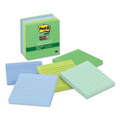 Post-it Super Sticky Lined Notes Tropic Breeze Colors 6 Pads Mmm6756sst