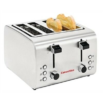 Caterlite Semi-Commercial 4 Slice Stainless Steel Toaster - GH439