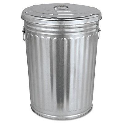 galvanized trash can