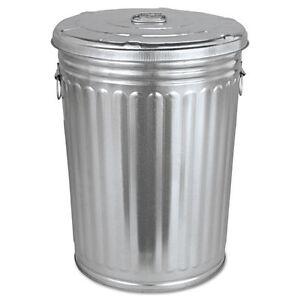 Galvanized Trash Can   eBay