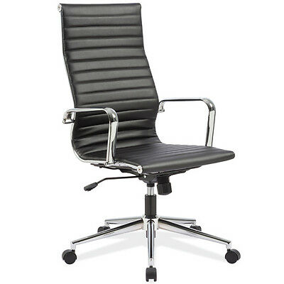 Modern High Back Conference Room Chairs Office Meeting Boardroom Black Dark Tan